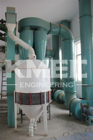 air suction separator in flour mill plant