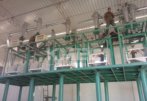 flour milling plant install
