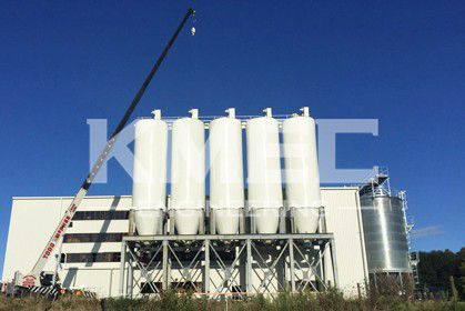 full view of the 160TPD wheat flour mill plant