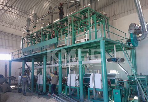 wheat flour milling plant completion