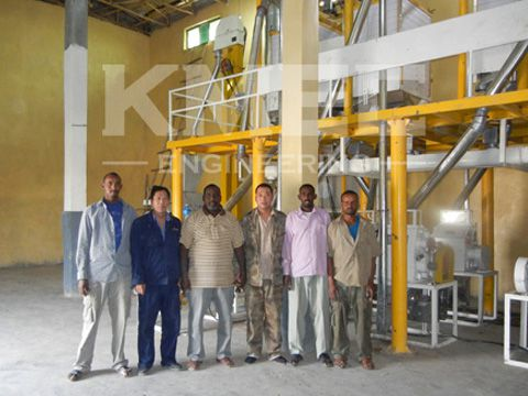 photo in front of flour mill plant