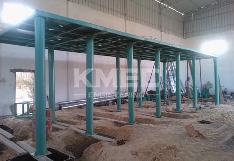 steel-frame structure of wheat flour milling plant