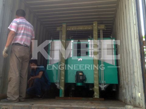 trucking loading maize flour mill